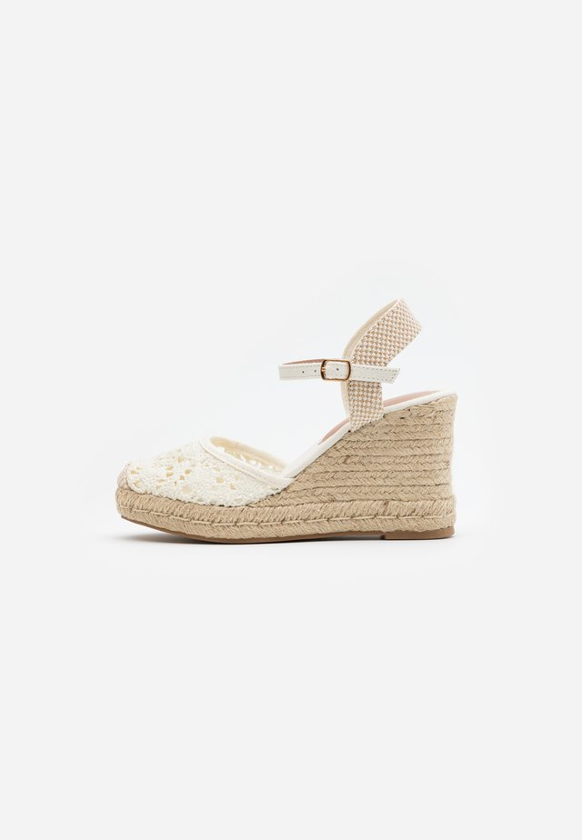 TROPICAL - High heeled sandals - offwhite