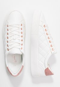 New Look - MILTED QUILTED LACE UP - Trainers - white - 3