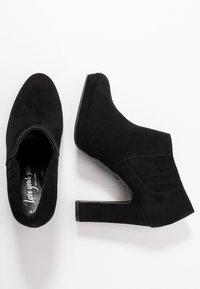 New Look - QUEUE - Kotníková obuv na vysokém podpatku - black - 3