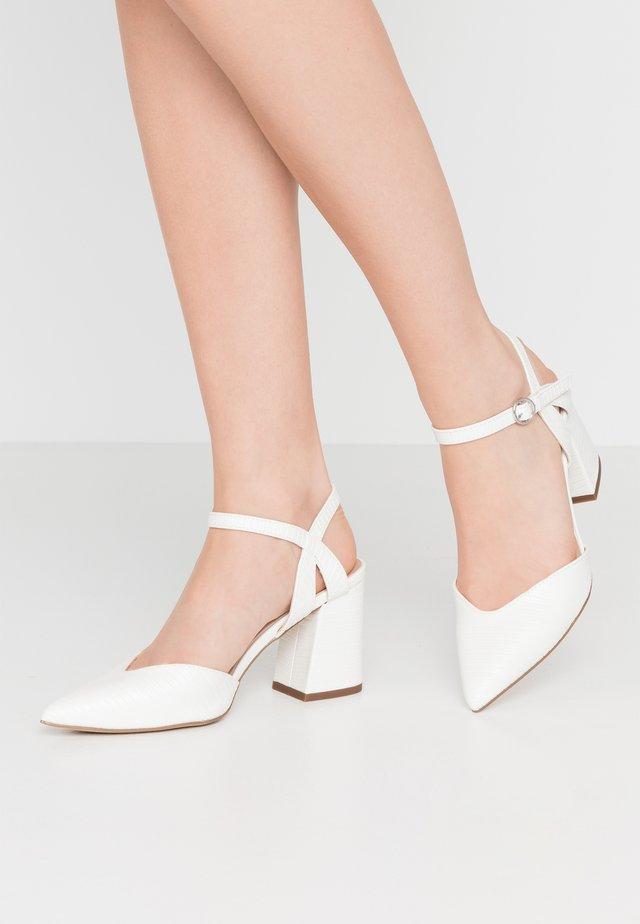 RAYLA - Lodičky na vysokém podpatku - white