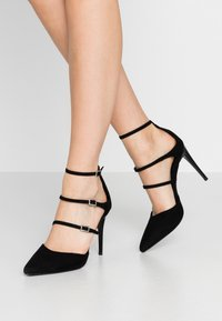 New Look - STRAPS - Escarpins à talons hauts - black - 0