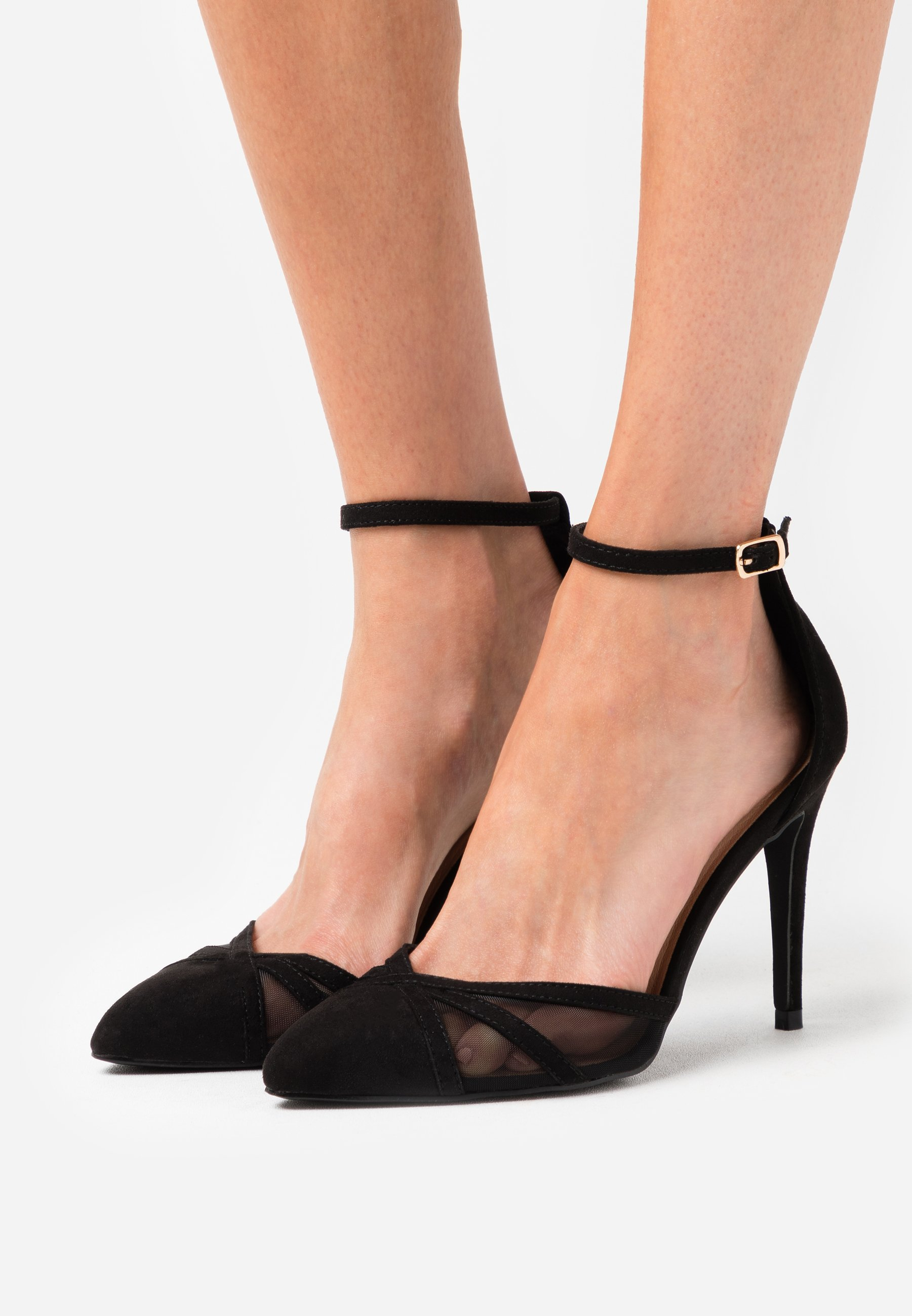 STRIPE Klassiska pumps black
