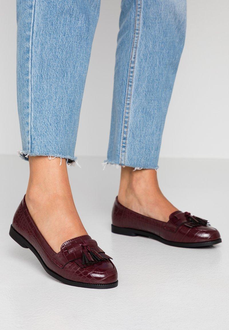 New Look - KAIRY - Slip-ons - dark burgundy