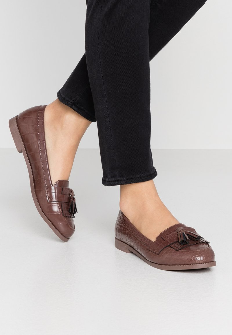 New Look - KAIRY - Slip-ons - mid brown