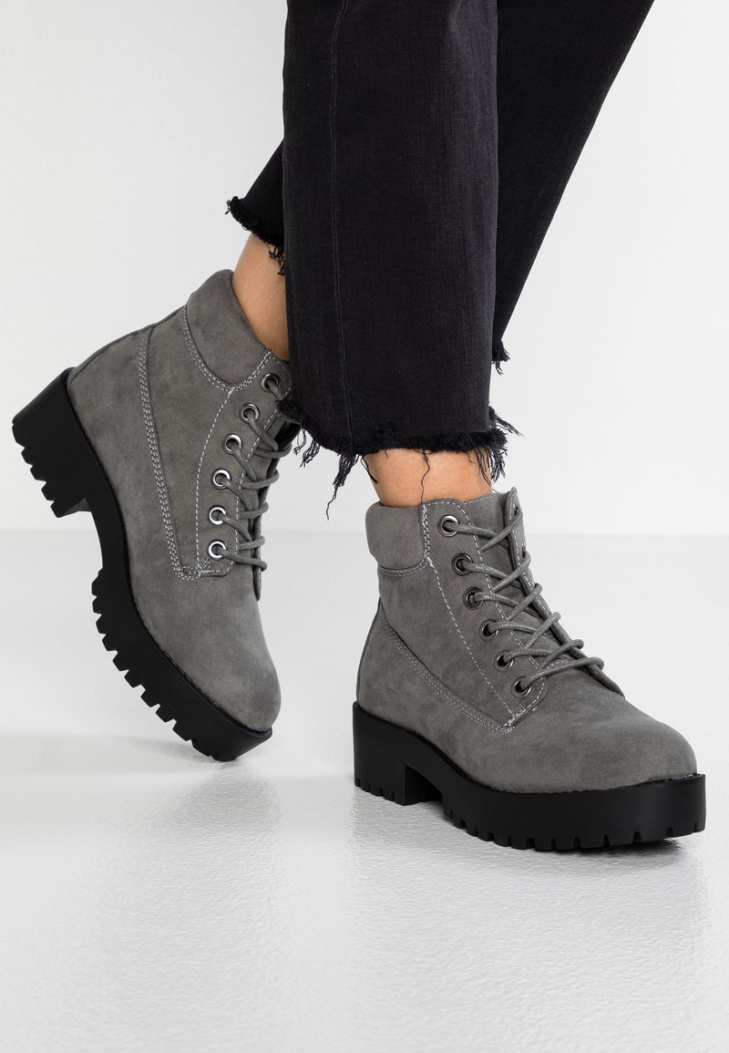 New Look - CARTER - Plateaustiefelette - mid grey