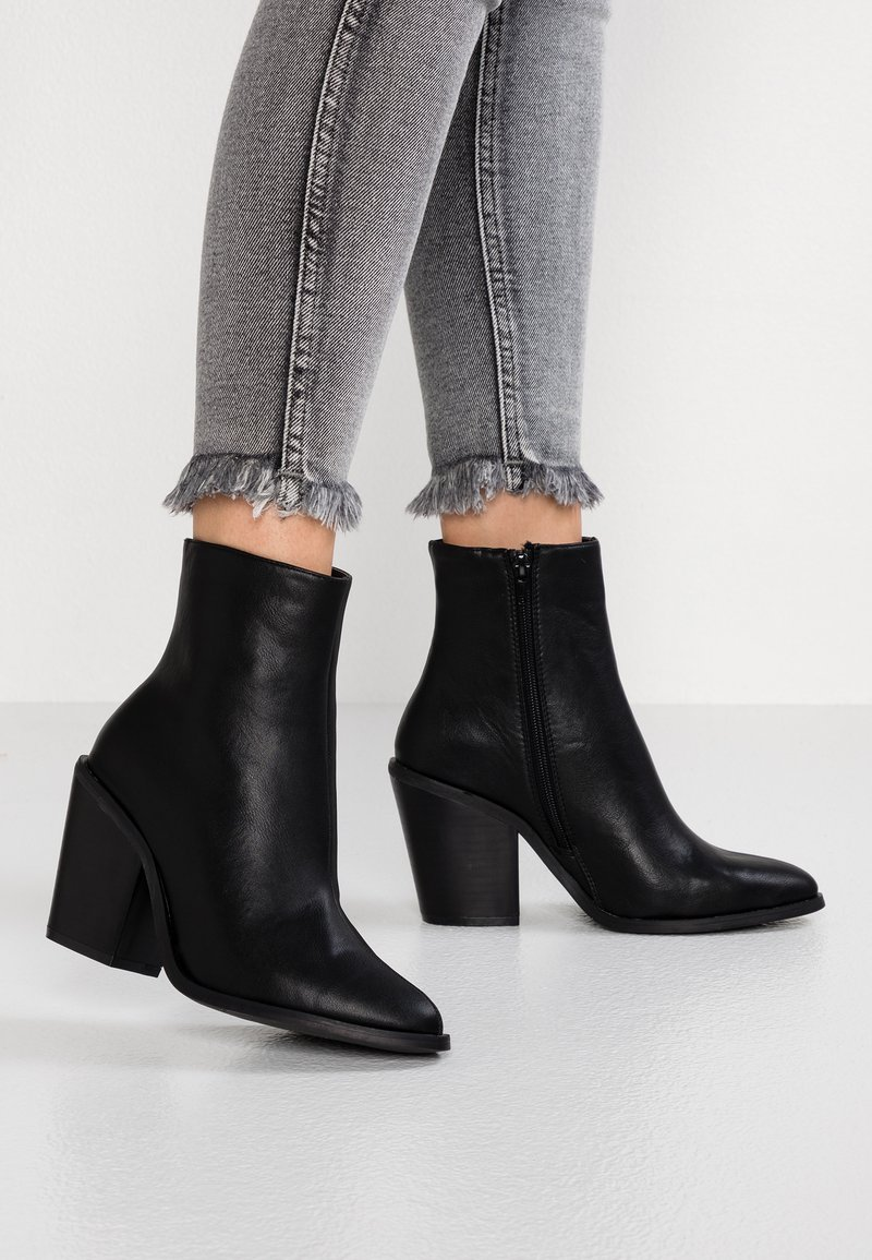 New Look - BUZZ - High heeled ankle boots - black
