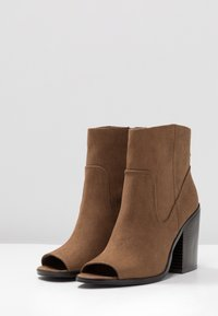 New Look - PEST - High heeled ankle boots - tan - 4