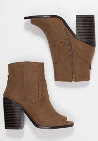 New Look - PEST - High heeled ankle boots - tan - 3