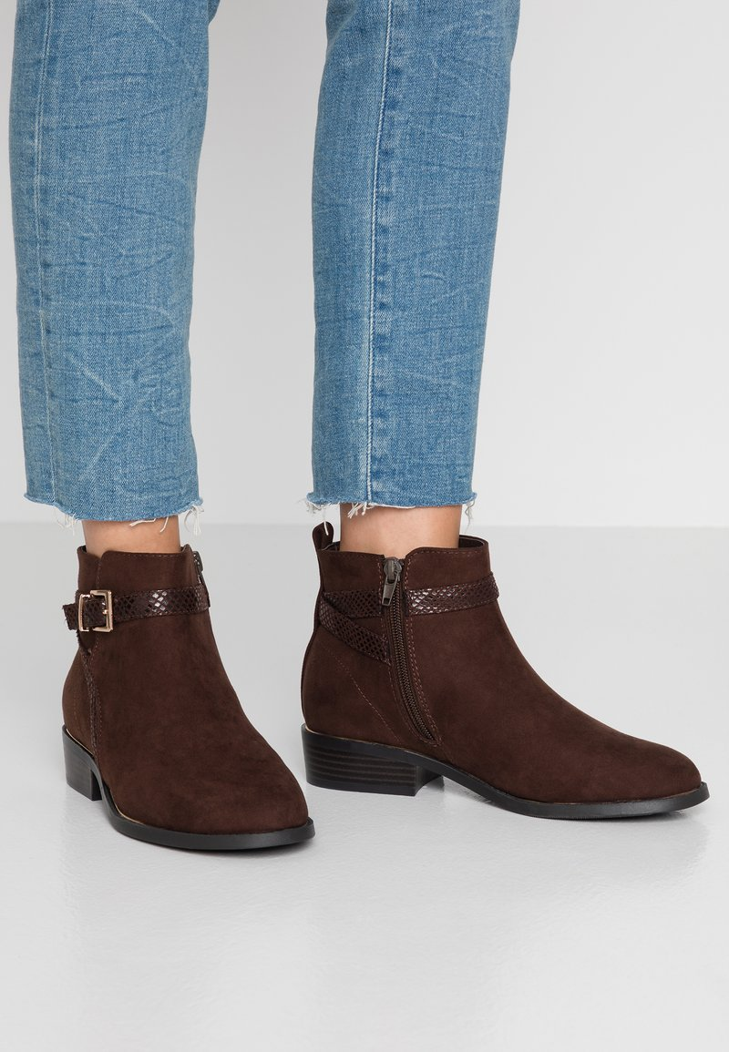 New Look - ADDITION - Ankle boots - brown