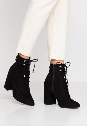 EMOTIONAL  - Kotníková obuv na vysokém podpatku - black