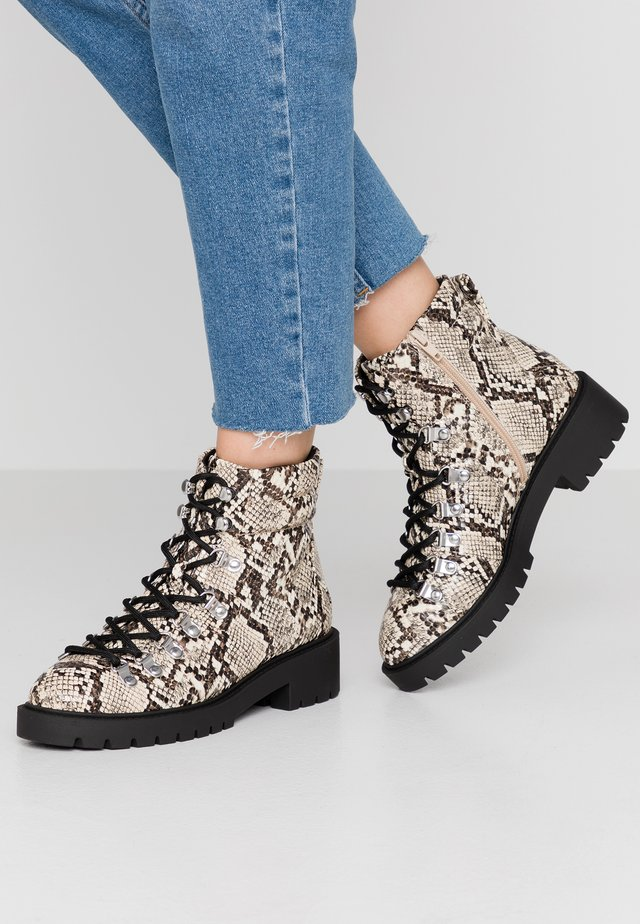 DABBLE - Lace-up ankle boots - stone