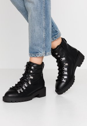 DABBLE - Šněrovací kotníkové boty - black