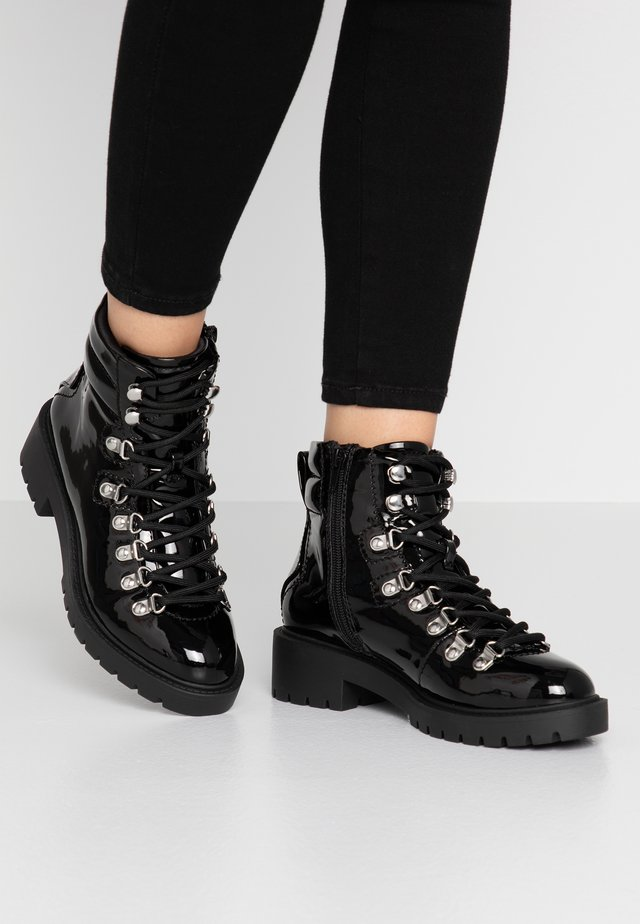 DABBLE  - Lace-up ankle boots - black