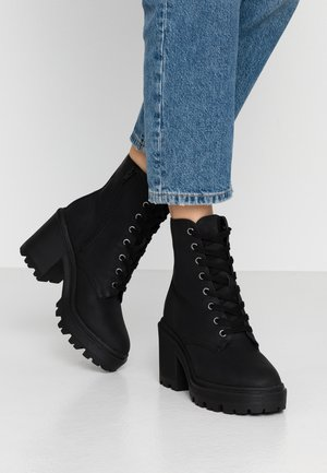 DYNAMITE - High heeled ankle boots - black