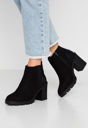 ENIGMA - High heeled ankle boots - black