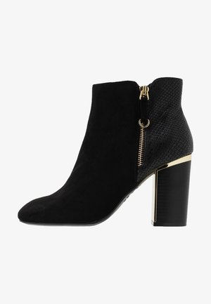 BANDIT - High heeled ankle boots - black