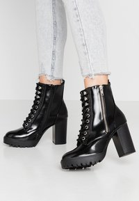 New Look - DYLAN - High heeled ankle boots - black - 0