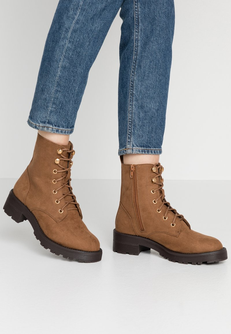 New Look - Lace-up ankle boots - tan