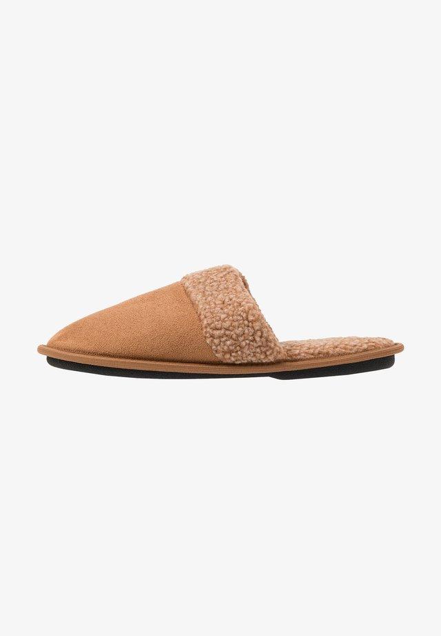 BORG COLLAR MULE                   - Pantoffels - tan