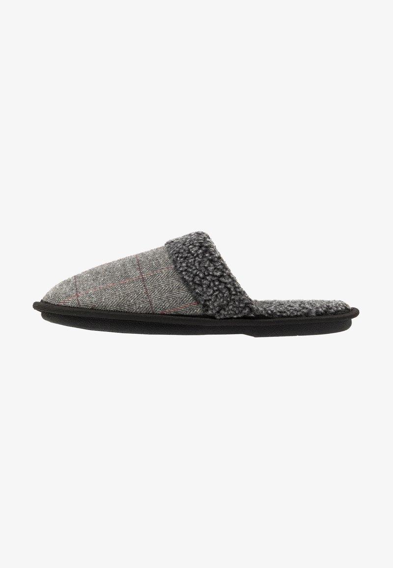 New Look - CHECK BORG COLLAR - Kapcie - grey