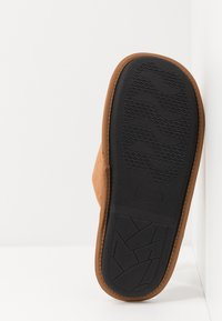 New Look - CHECK LINED MULE - Pantuflas - tan - 4
