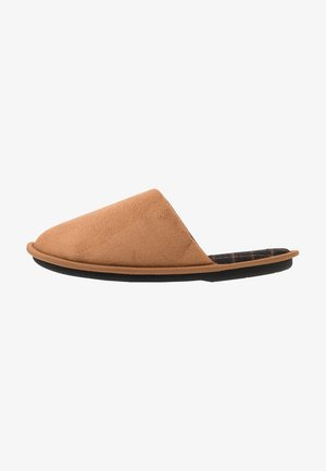 CHECK LINED MULE - Pantuflas - tan