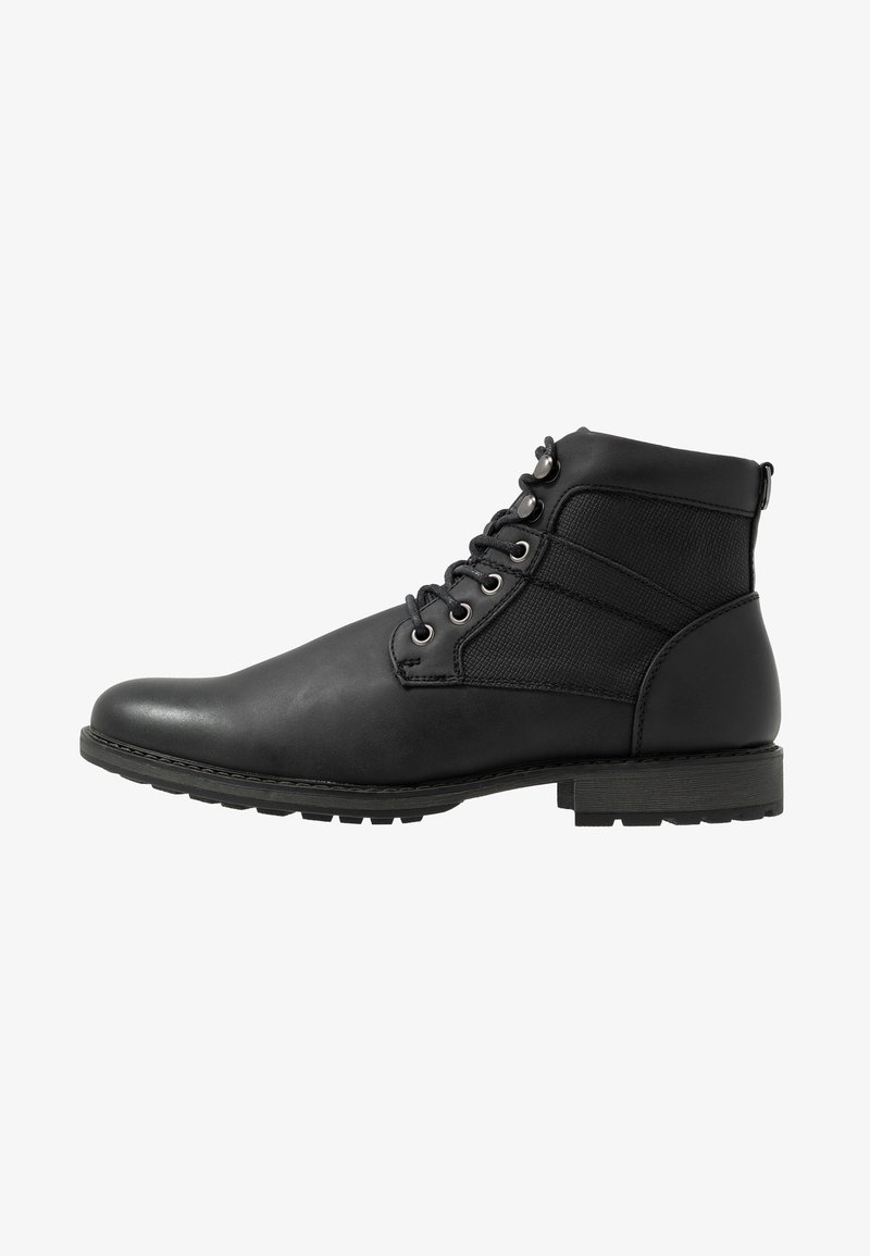 New Look - JOE MILITRY BOOT - Lace-up ankle boots - black