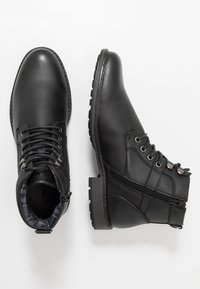 New Look - JOE MILITRY BOOT - Lace-up ankle boots - black - 1