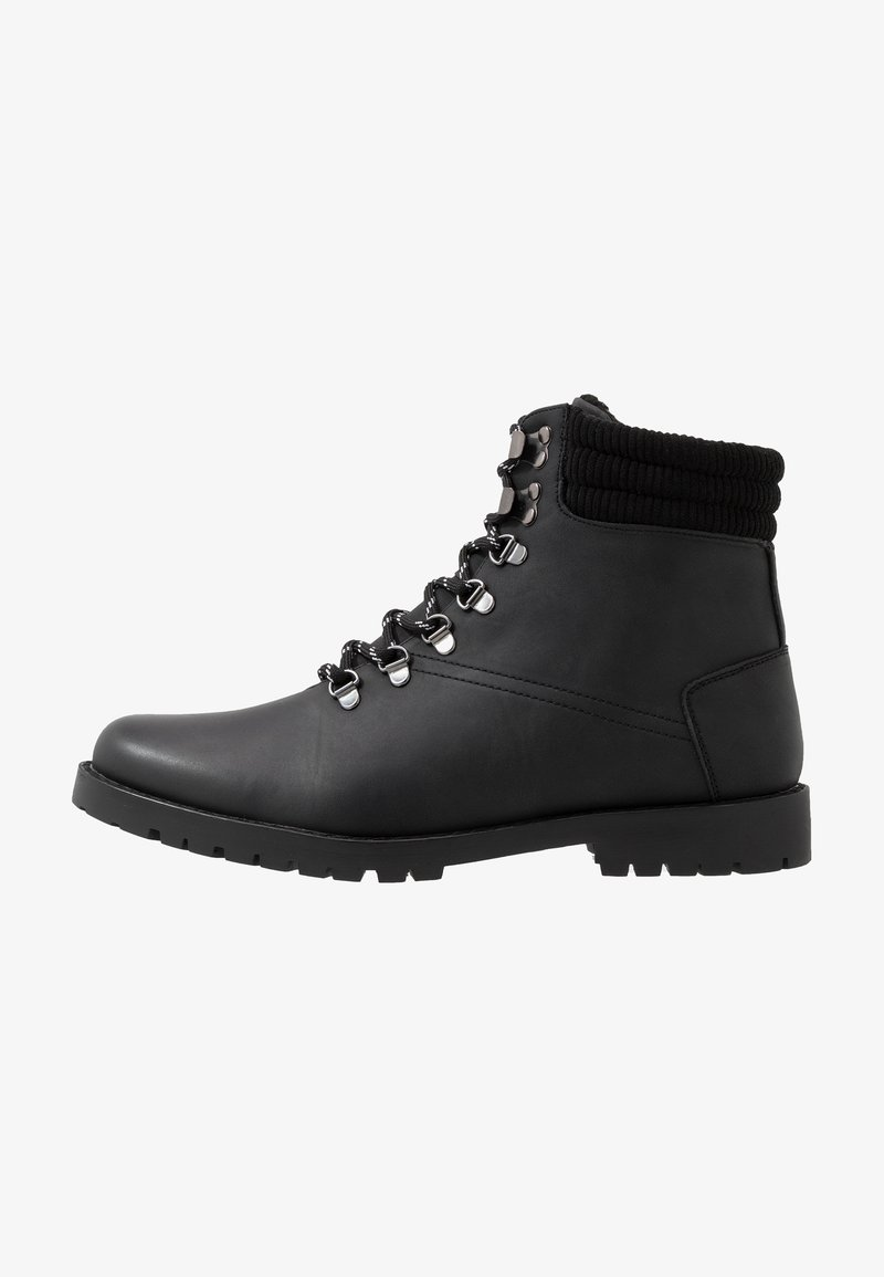 New Look - MIKE HIKER BOOT - Lace-up ankle boots - black