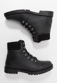 New Look - MIKE HIKER BOOT - Lace-up ankle boots - black - 1