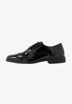 CHARLIE BROGUE - Zapatos con cordones - black