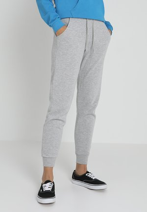 BASIC BASIC  - Tracksuit bottoms - grey marl
