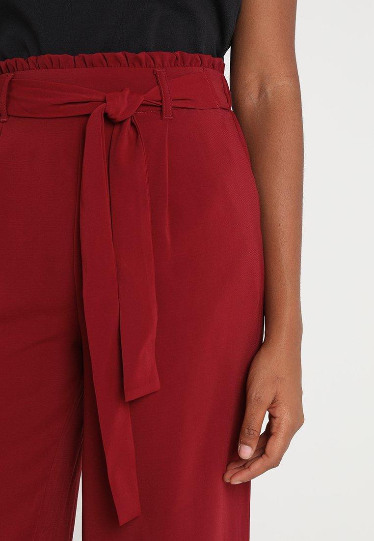 dark New Look classique CROPPantalon burgundy EMERALD WAIST TIE YbeHE2IWD9