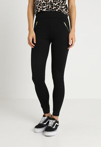 New Look - PONTE - Leggings - Trousers - black - 0