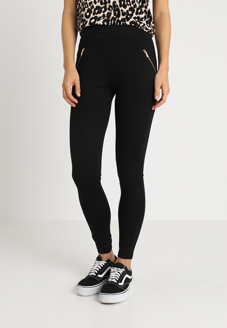 New Look - PONTE - Leggings - Trousers - black