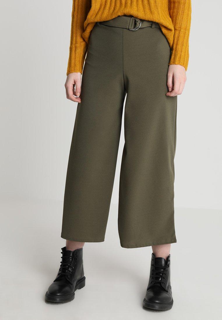New Look - RING CROP - Pantalones - khaki