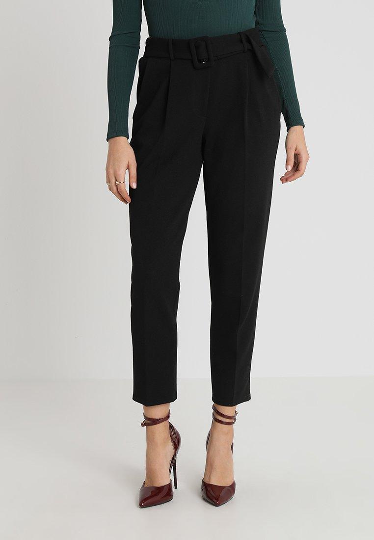 New Look - BUCKLE TROUSER - Kalhoty - black