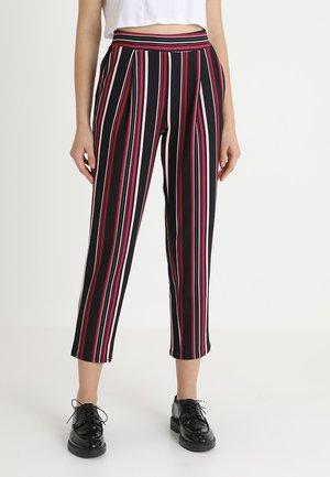 STRIPE SCUBA PULL ON - Trousers - black