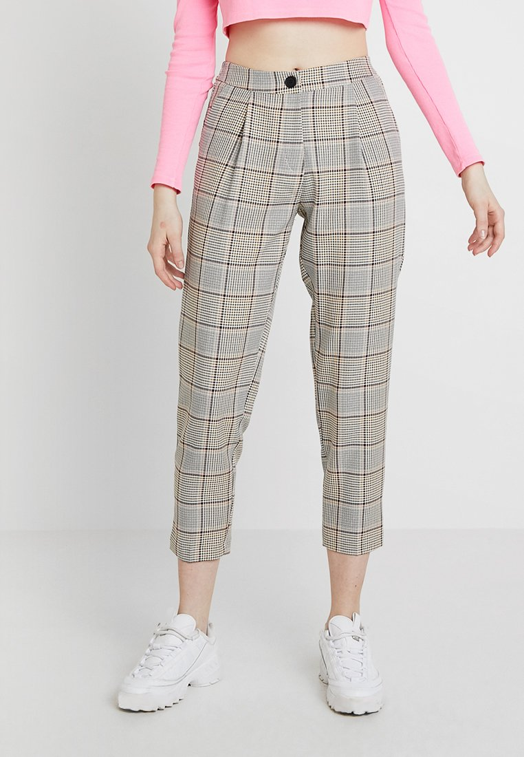 New Look - SUMMER CHECK VICKY TROUSER - Stoffhose - brown