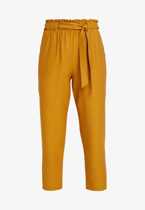 JANE TIE WAIST TROUSER - Kalhoty - dark yellow