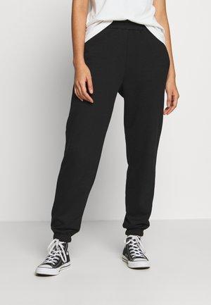 CUFFED JOGGER - Teplákové kalhoty - black