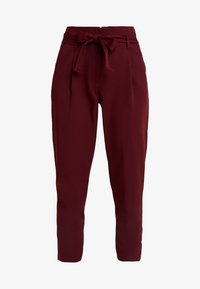 New Look - PAPERBAG VICKY TROUSER - Kangashousut - burgundy - 3