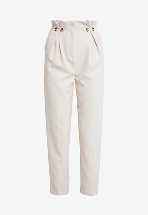 BUTTON PLEATED TROUSER - Kalhoty - stone