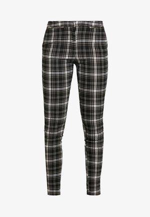 ZIP KENDAL CHECK BENGALINE - Trousers - black