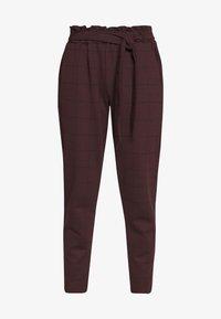 New Look - BERT CHECK TROUSER - Chino kalhoty - dark burgundy - 3
