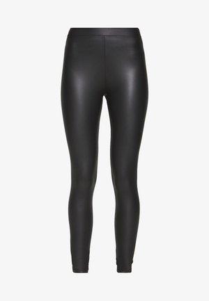 WET LOOK  - Leggingsit - black