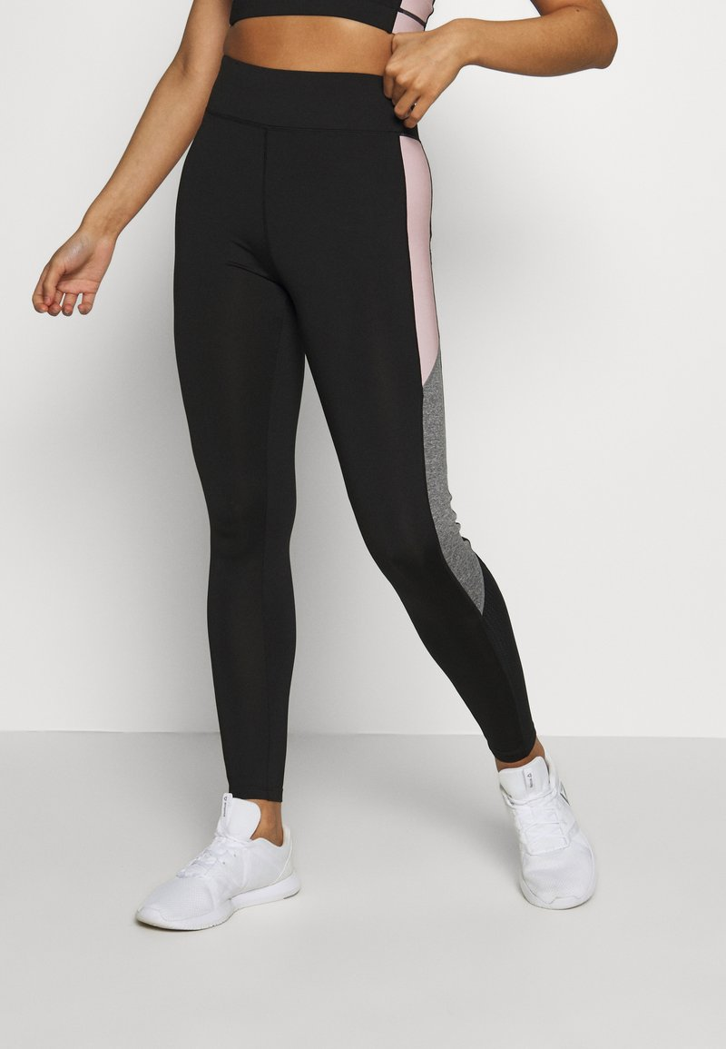 New Look - COLOUR BLOCK - Leggings - Trousers - mid pink