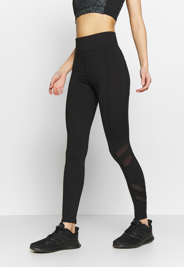 PANELLED LEGGING - Legging - black