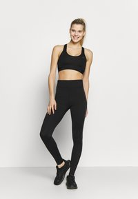 New Look - PRINT PANEL - Leggings - Trousers - black pattern - 1