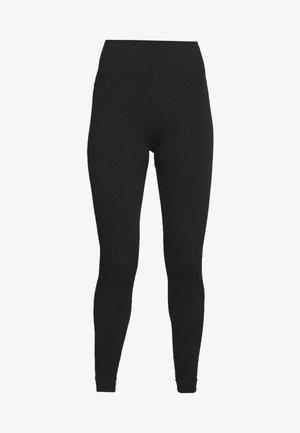 TEXTURED SEAM FREE - Leggings - black